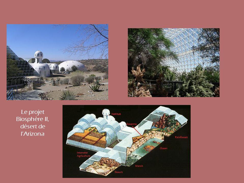 Le projet Biosphère II, désert de l'Arizona