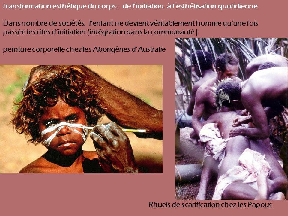 peinture corporelle chez les Aborigènes d'Australie