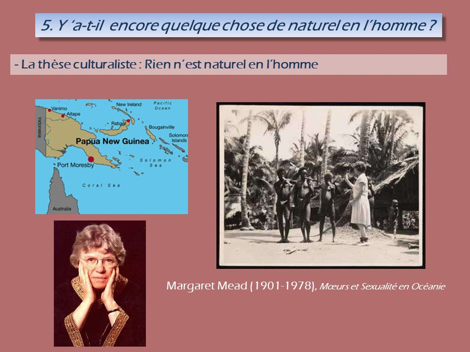 Margaret Mead (1901-1978), Mœurs et Sexualité en Océanie