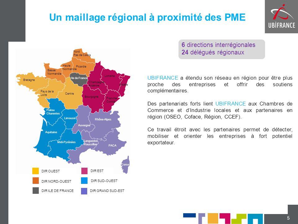 Un maillage régional à proximité des PME