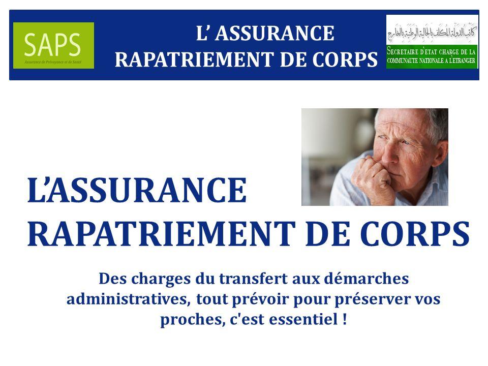 L'ASSURANCE RAPATRIEMENT DE CORPS