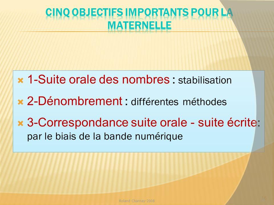 Cinq objectifs importants pour la Maternelle