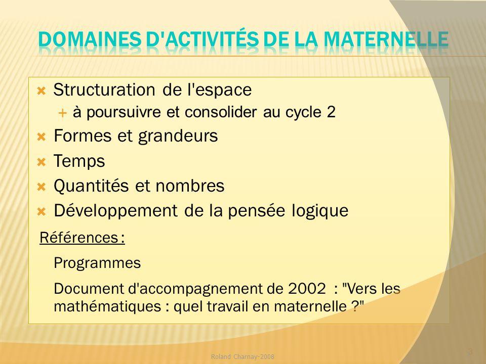Domaines d activités de la maternelle