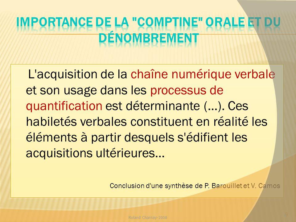 Importance de la comptine orale et du dénombrement