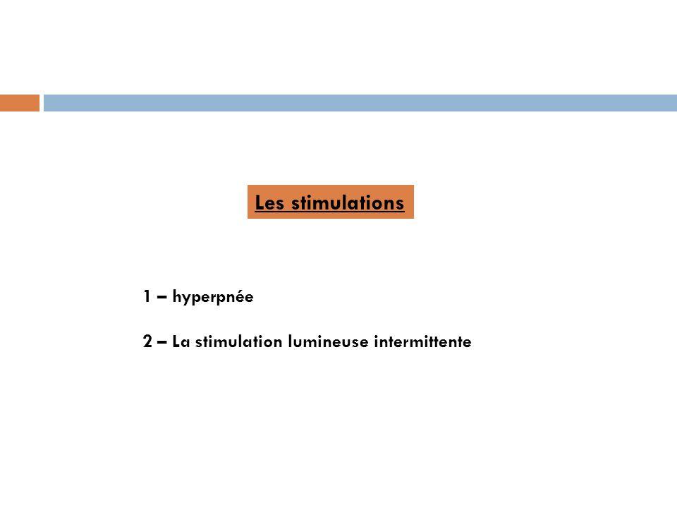 Les stimulations 1 – hyperpnée