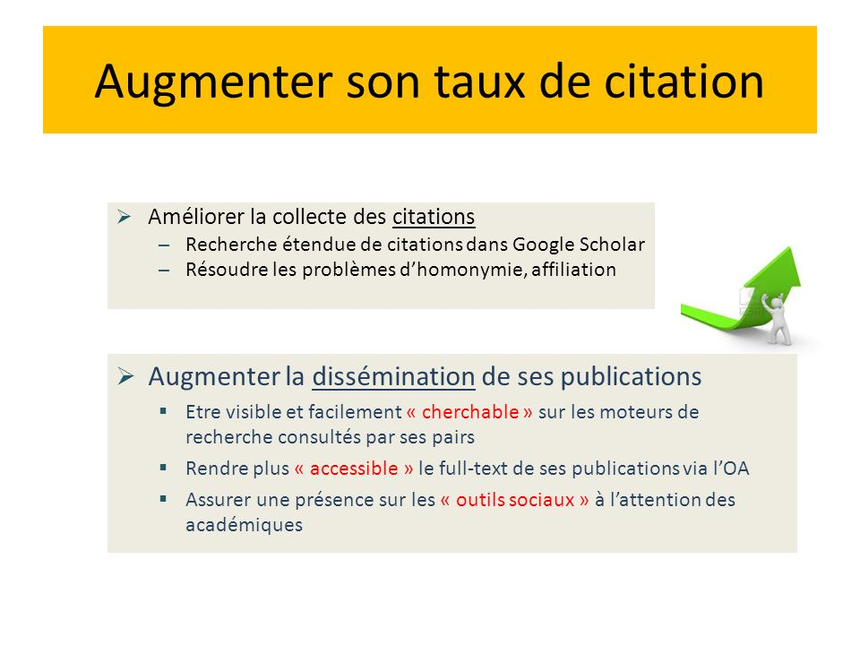 Augmenter son taux de citation