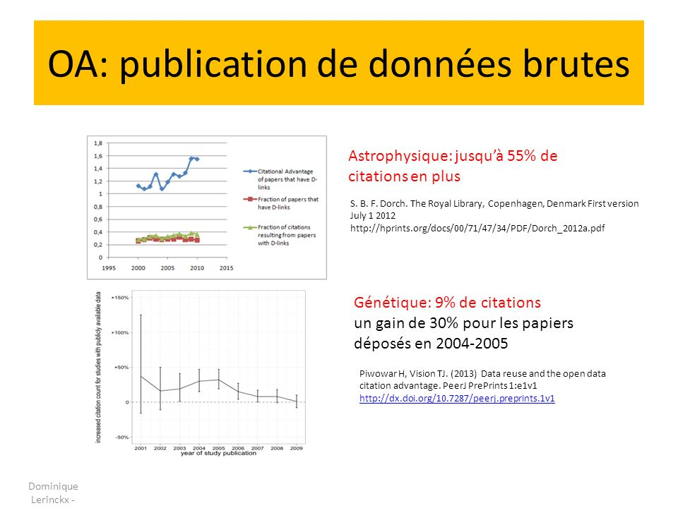 OA: publication de données brutes