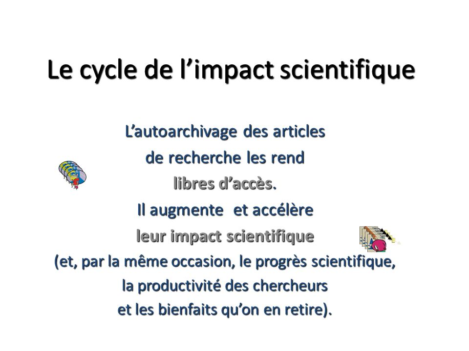Le cycle de l'impact scientifique