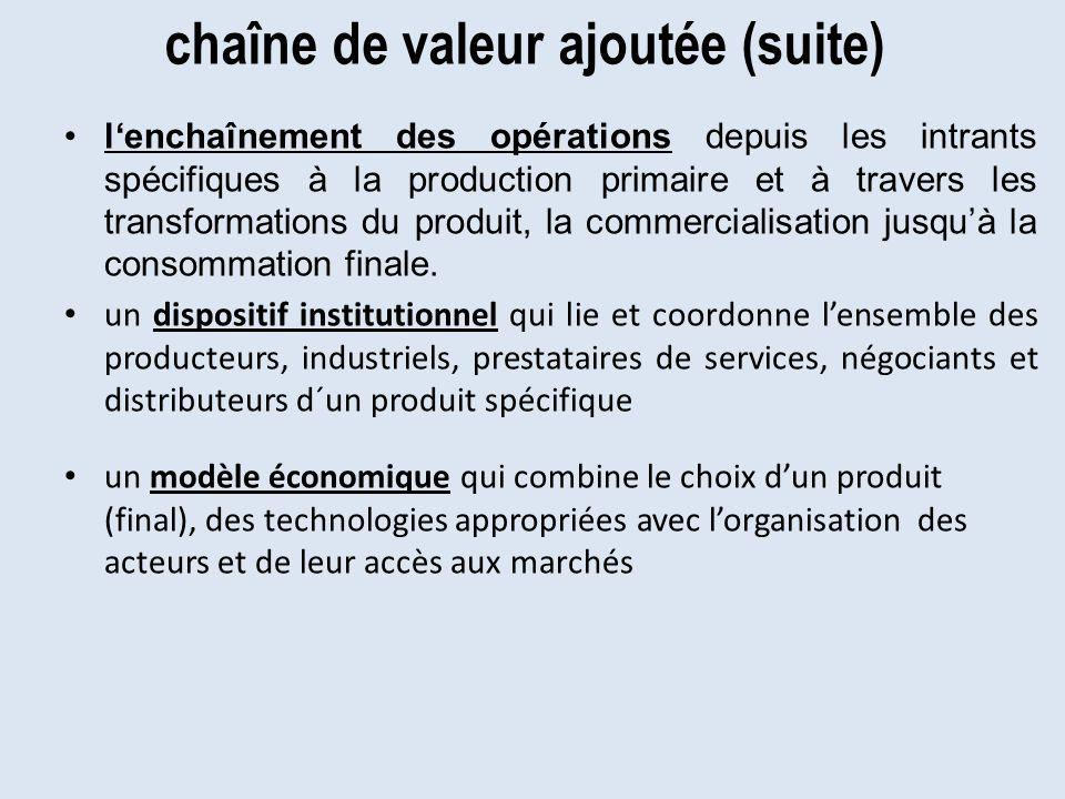 chaîne de valeur ajoutée (suite)