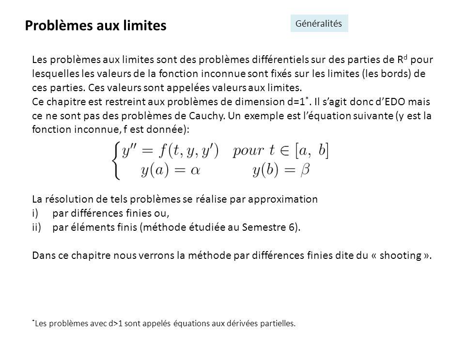 Problèmes aux limites Généralités.