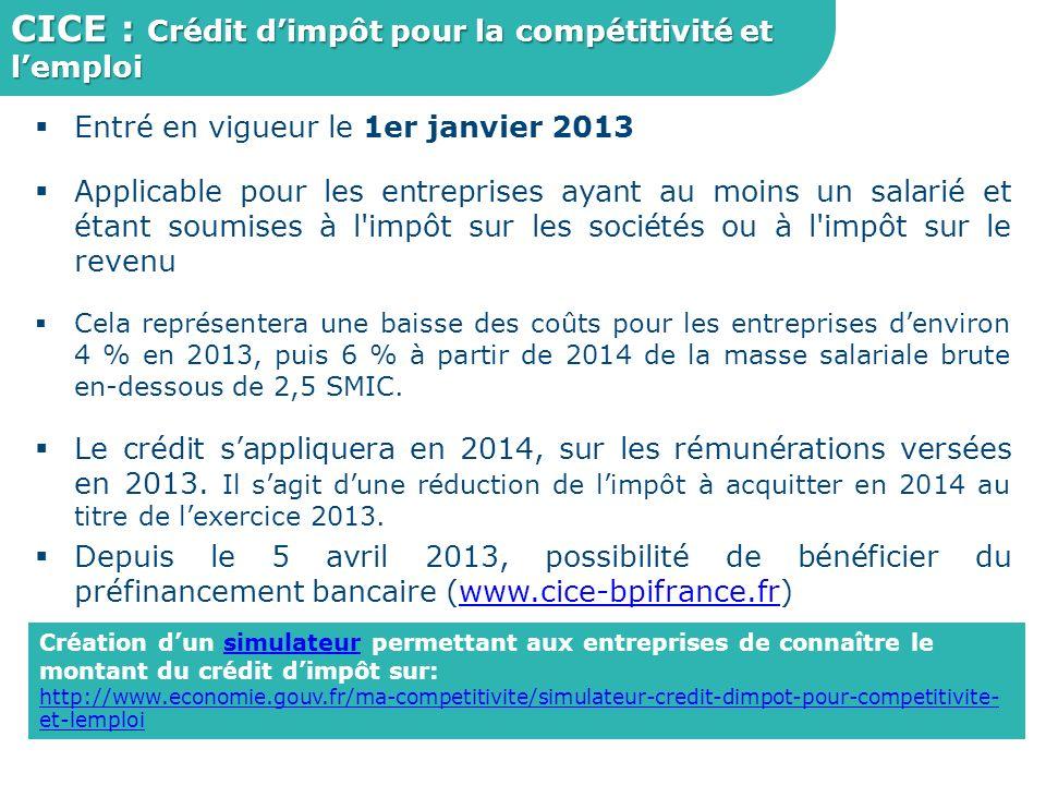 CICE : Crédit d'impôt pour la compétitivité et l'emploi