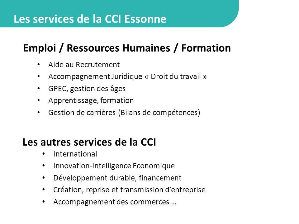 Les services de la CCI Essonne