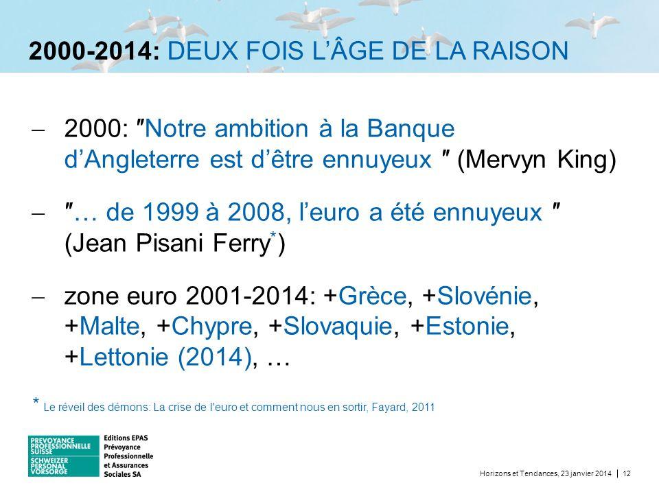2000-2014: DEUX FOIS L'ÂGE DE LA RAISON