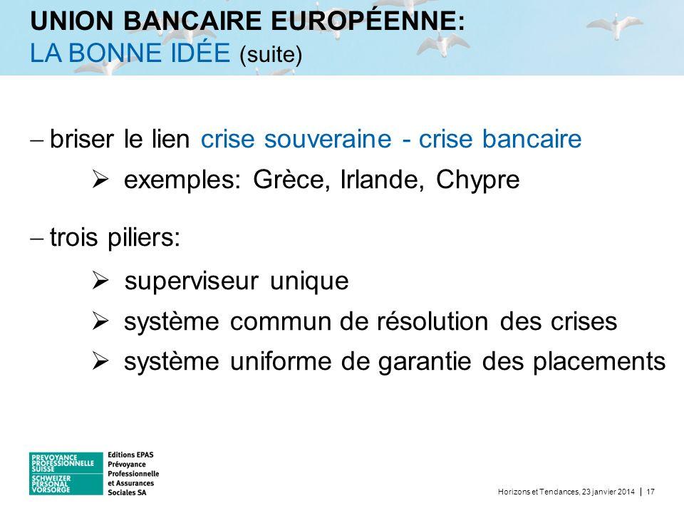 UNION BANCAIRE EUROPÉENNE: LA BONNE IDÉE (suite)