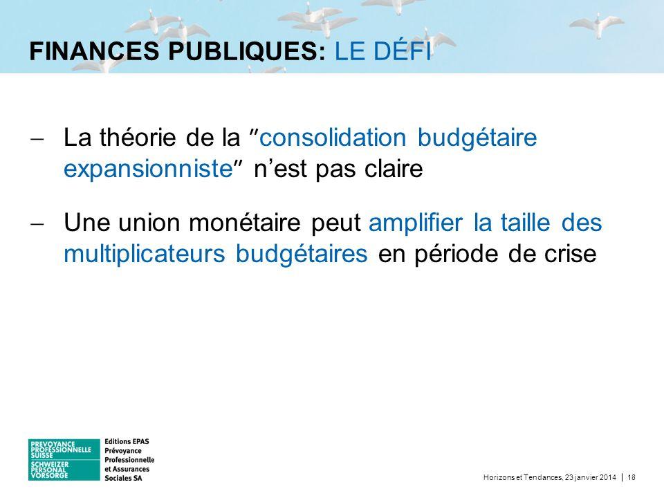 FINANCES PUBLIQUES: LE DÉFI