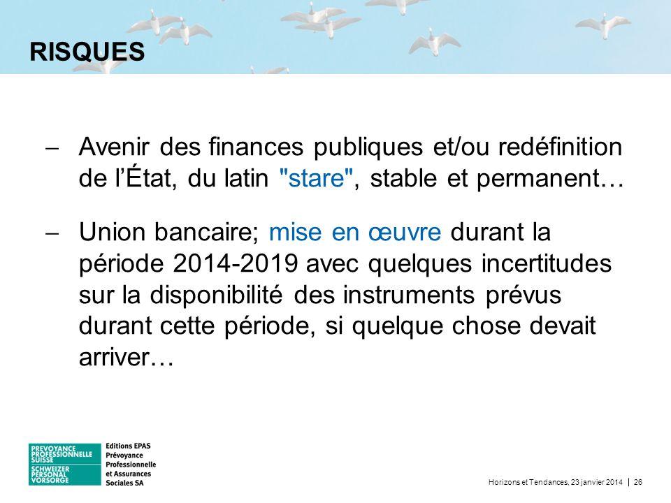 RISQUES Avenir des finances publiques et/ou redéfinition de l'État, du latin stare , stable et permanent…