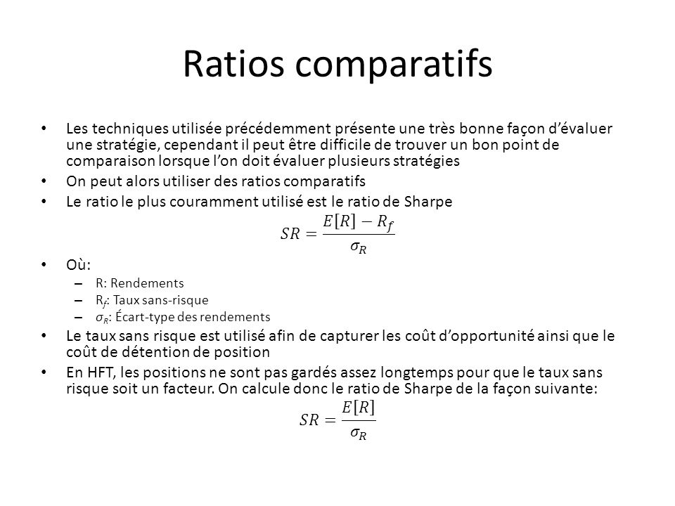 Ratios comparatifs