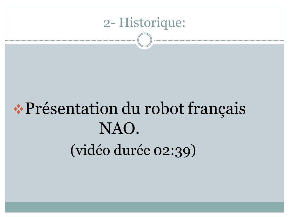 Présentation du robot français NAO.