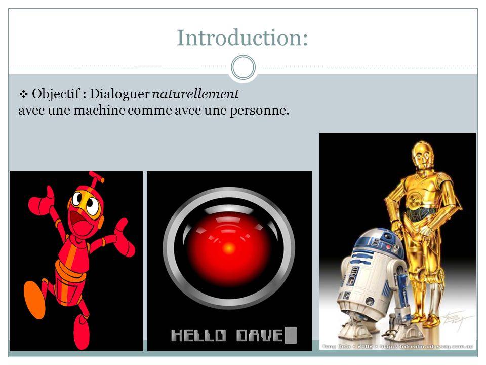 Introduction: avec une machine comme avec une personne.