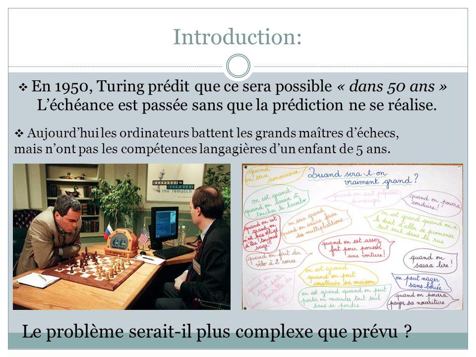 Introduction: Le problème serait-il plus complexe que prévu