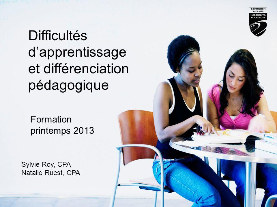 Difficultés d'apprentissage et différenciation pédagogique