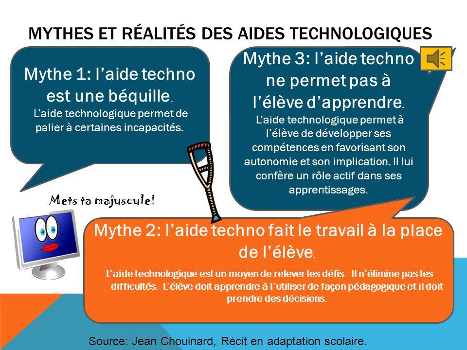 Mythes et réalités des aides technologiques