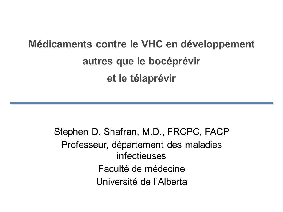 Médicaments contre le VHC en développement autres que le bocéprévir et le télaprévir