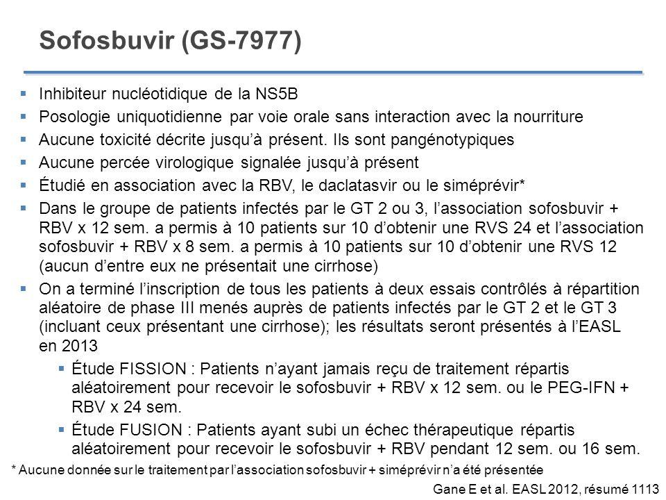 Sofosbuvir (GS-7977) Inhibiteur nucléotidique de la NS5B