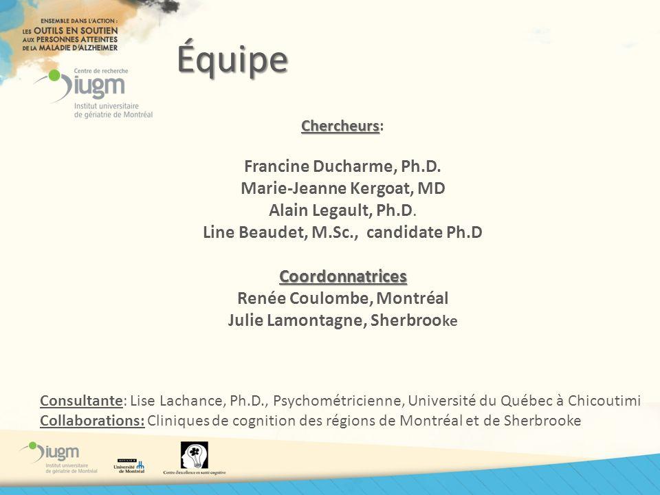Équipe Francine Ducharme, Ph.D. Marie-Jeanne Kergoat, MD