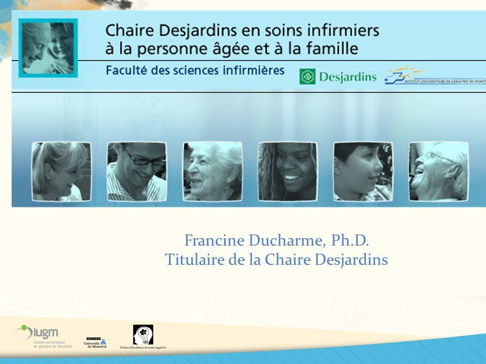 Titulaire de la Chaire Desjardins