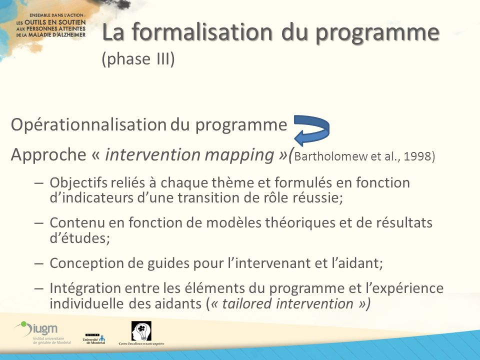 La formalisation du programme (phase III)