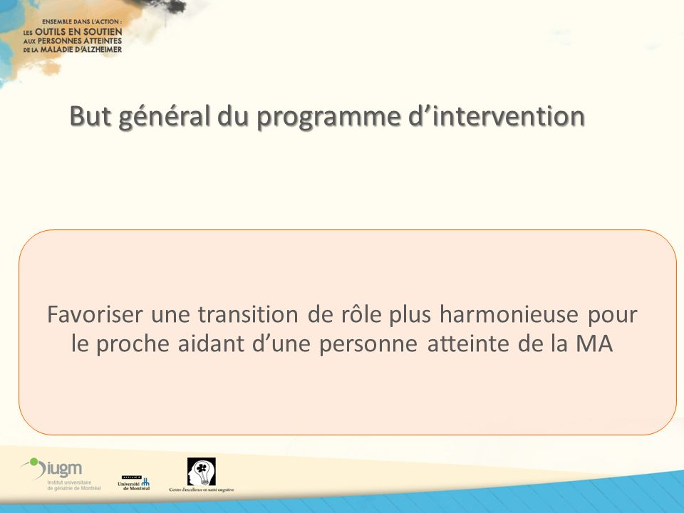 But général du programme d'intervention