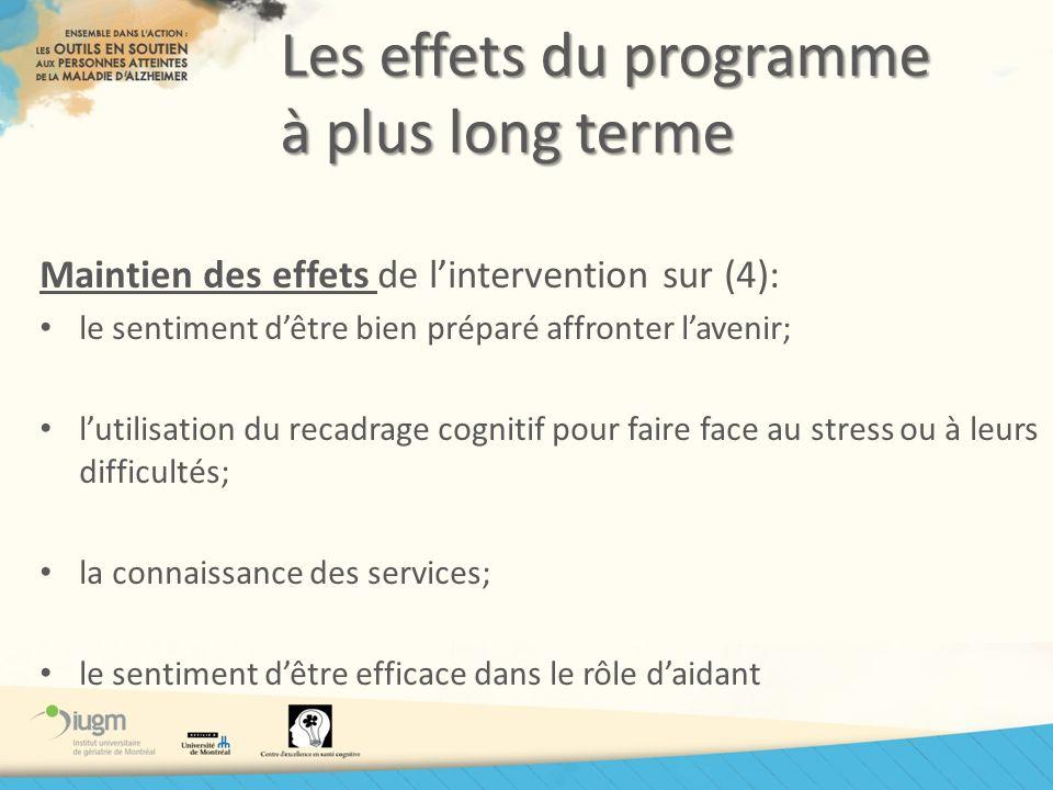 Les effets du programme à plus long terme