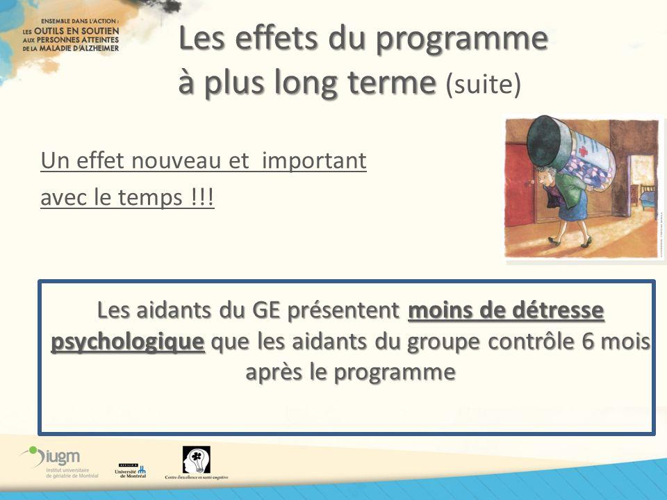 Les effets du programme à plus long terme (suite)