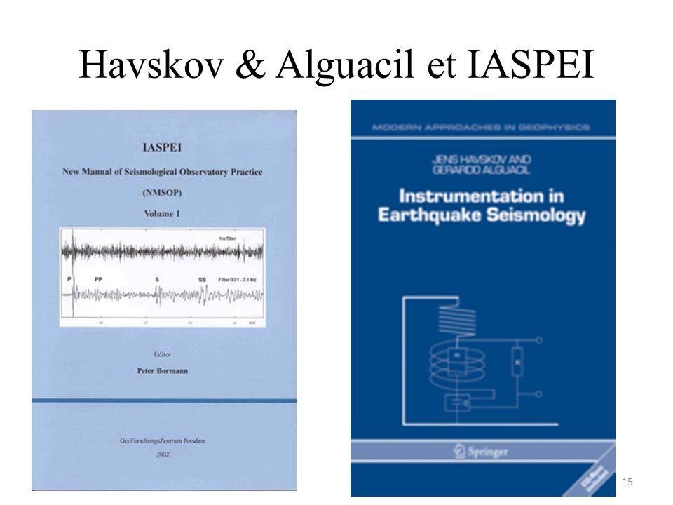 Havskov & Alguacil et IASPEI