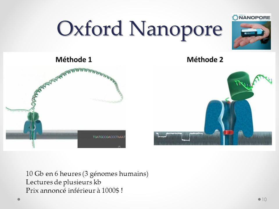 Oxford Nanopore 10 Gb en 6 heures (3 génomes humains)