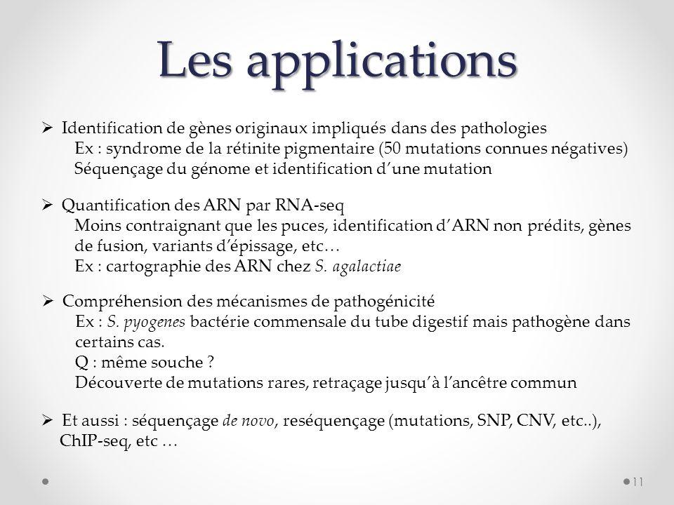 Les applications Identification de gènes originaux impliqués dans des pathologies.