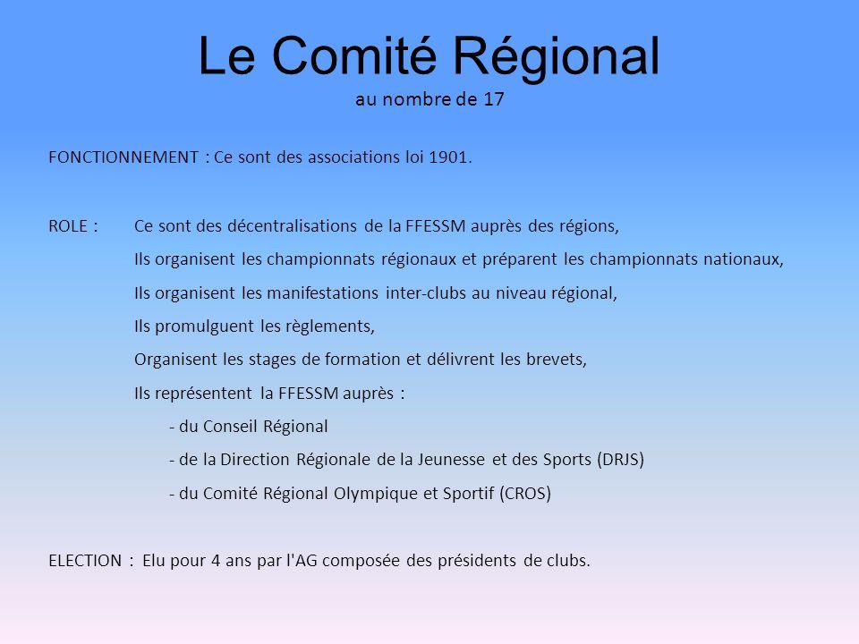 Le Comité Régional au nombre de 17