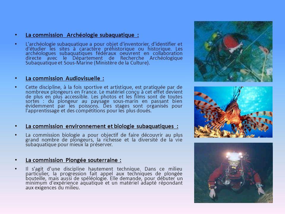 La commission Archéologie subaquatique :