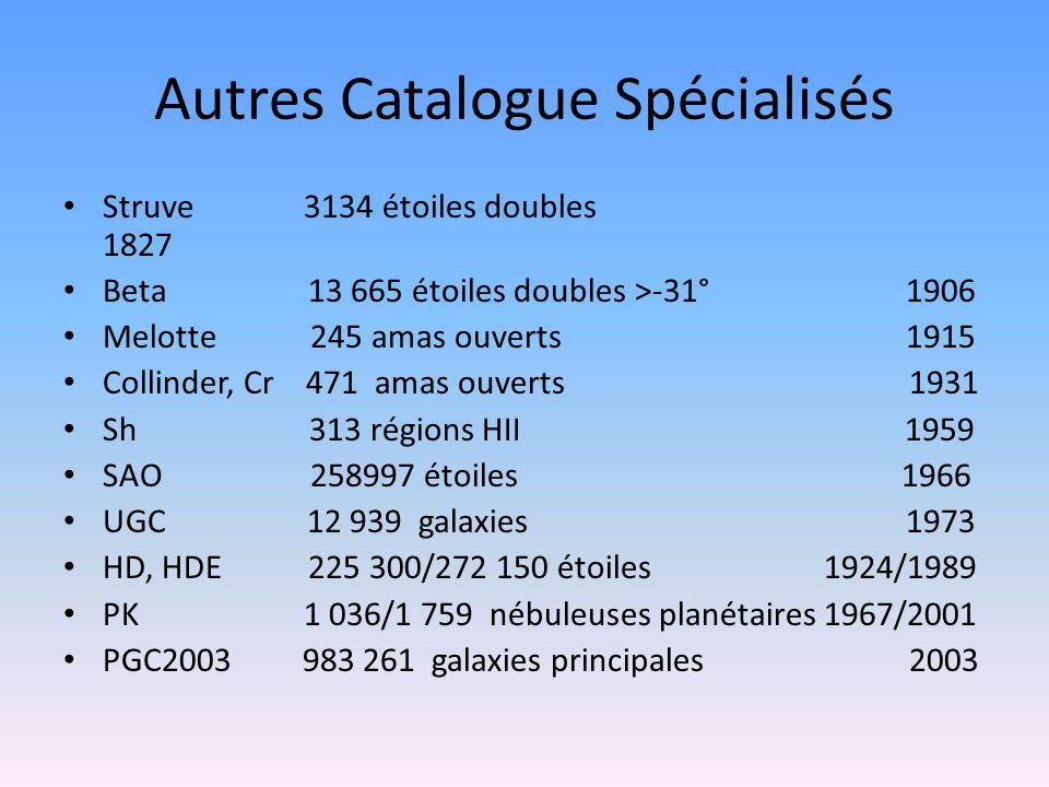 Autres Catalogue Spécialisés