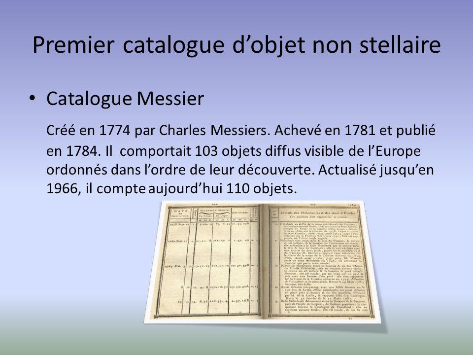Premier catalogue d'objet non stellaire