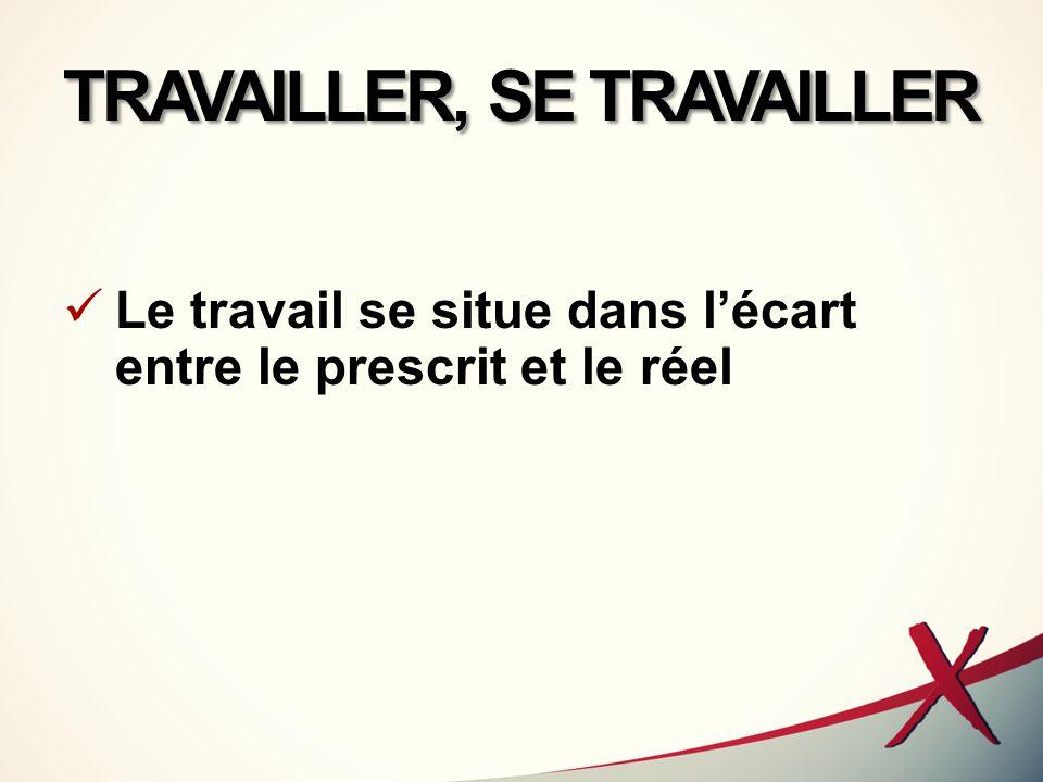 TRAVAILLER, SE TRAVAILLER