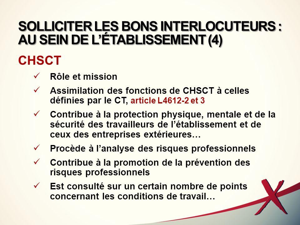 SOLLICITER LES BONS INTERLOCUTEURS : AU SEIN DE L'ÉTABLISSEMENT (4)