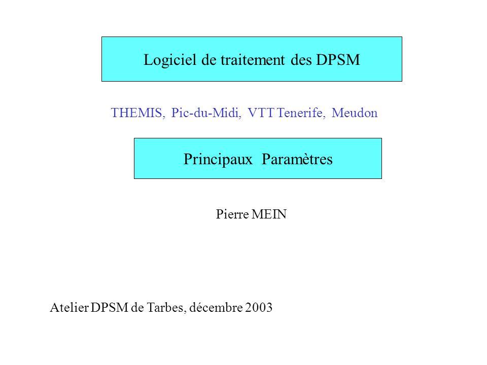 Logiciel de traitement des DPSM