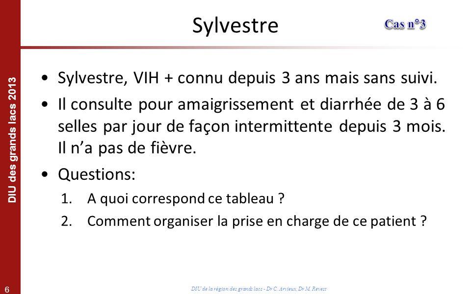 Sylvestre Sylvestre, VIH + connu depuis 3 ans mais sans suivi.