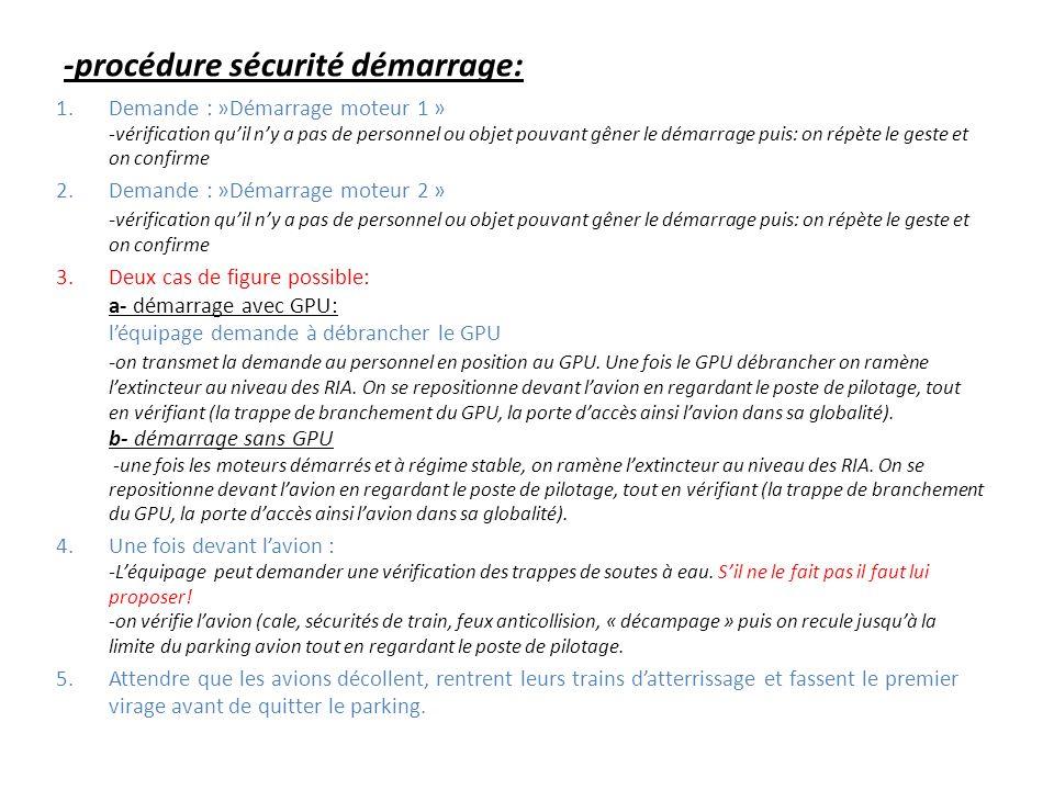 -procédure sécurité démarrage: