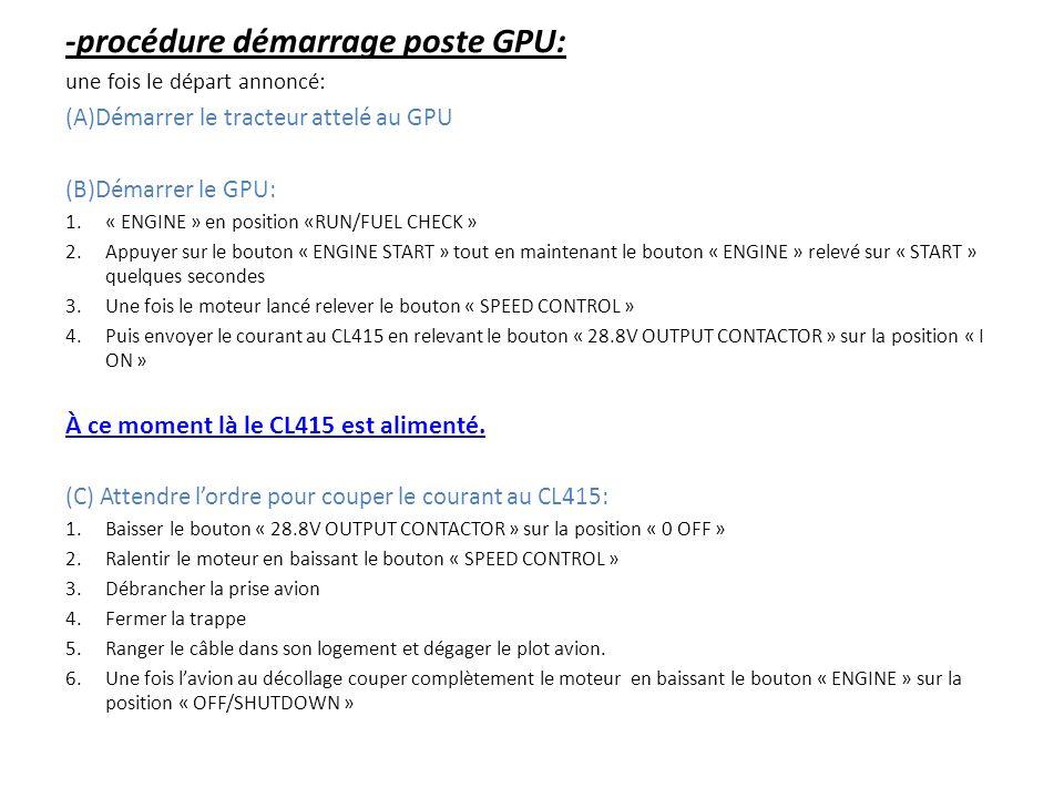 -procédure démarrage poste GPU: