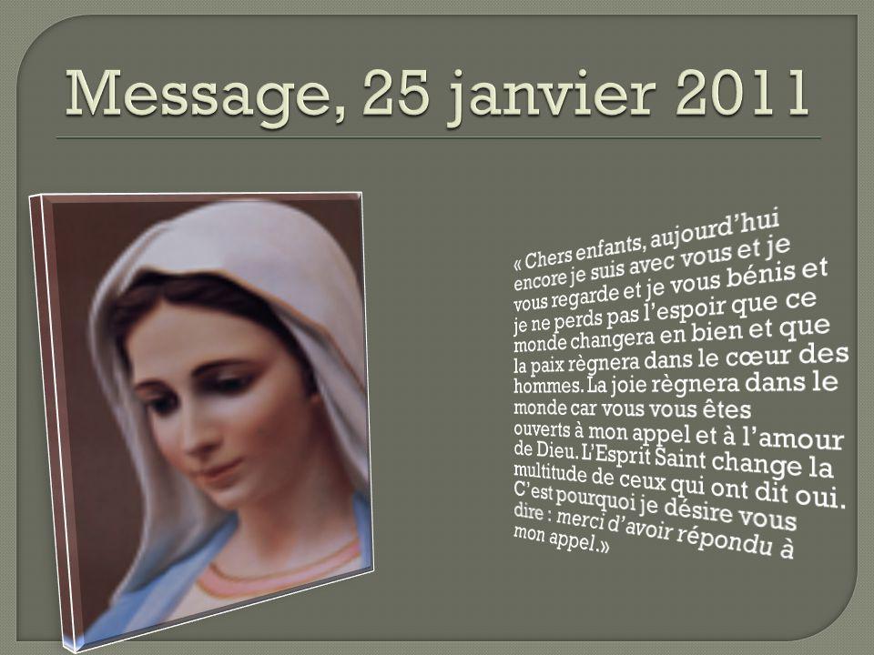 Message, 25 janvier 2011