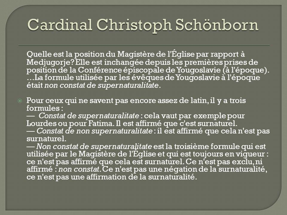 Cardinal Christoph Schönborn