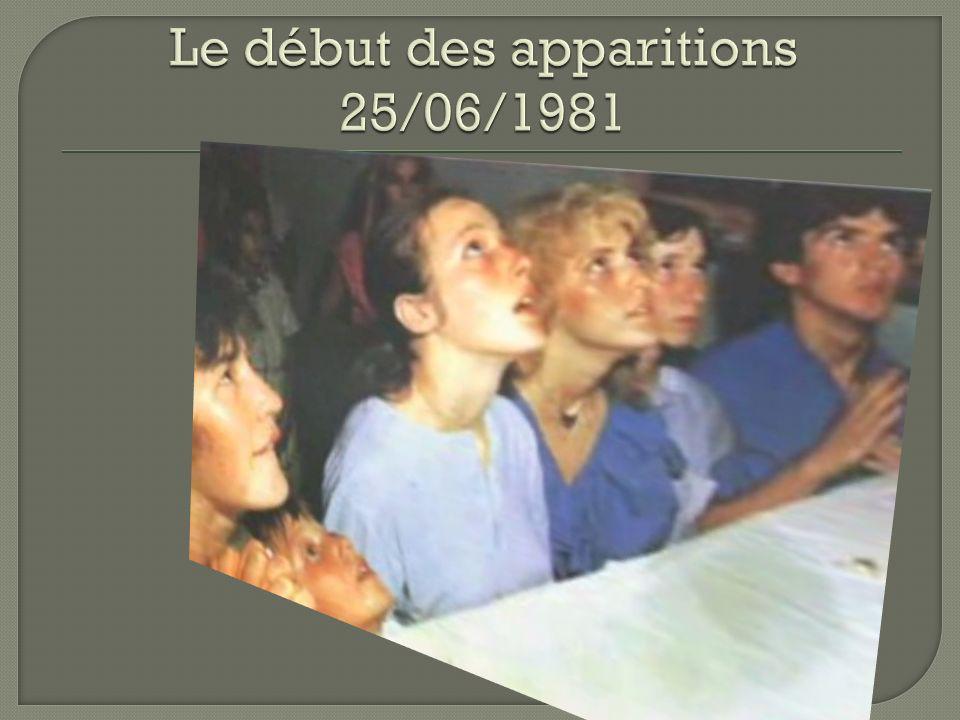 Le début des apparitions 25/06/1981